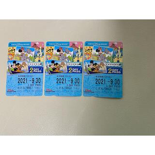 ディズニー(Disney)のDisney Resort Line 2DAY PASS 大人1枚 & 子供2枚(その他)