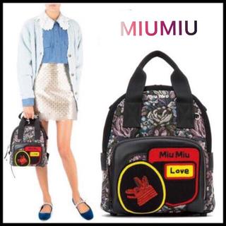 miumiu - MIUMIU   リュック ウルフ ロゴ