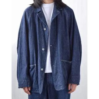 コモリ(COMOLI)のCOMOLI 21ss デニムワークジャケット ネイビー サイズ2(Gジャン/デニムジャケット)