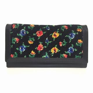フェイラー(FEILER)のフェイラー 長財布 - 黒×グリーン×マルチ(財布)