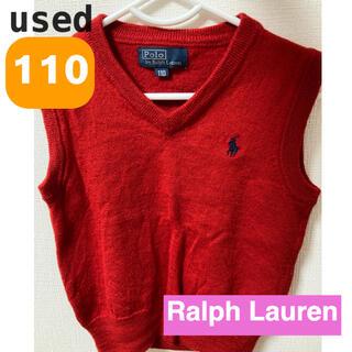 Ralph Lauren - ラルフローレン  ベスト 110  100  ニット 赤