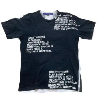ジュンヤワタナベコムデギャルソン(JUNYA WATANABE COMME des GARCONS)の激レア junya watanabe 02ss メッセージ ポエム Tシャツ(Tシャツ/カットソー(半袖/袖なし))
