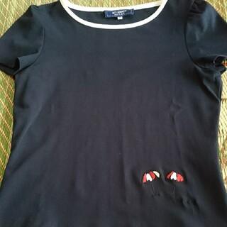 エムズグレイシー(M'S GRACY)のネイビー 半袖カットソー⭐(カットソー(半袖/袖なし))