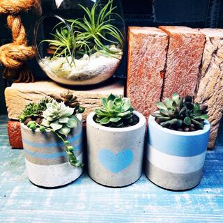 お得な3つセット♪ プランター 植木鉢 creamy blue(プランター)