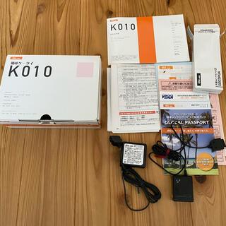 エーユー(au)の簡単ケータイ K010 充電器 箱 説明のみの販売(バッテリー/充電器)