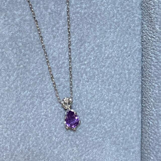 ポンテヴェキオ(PonteVecchio)のセイレーンアズーロ パープルサファイア ダイヤモンド ネックレス K18WG(ネックレス)