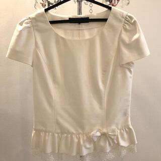 エムズグレイシー(M'S GRACY)のエムズグレイシー 半袖カットソー 38 オフホワイト(カットソー(半袖/袖なし))