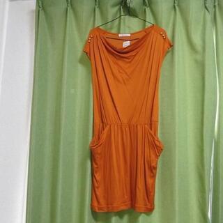 ドゥアルシーヴ(Doux archives)の色鮮やか オレンジ ワンピース 綺麗  可愛い(ひざ丈ワンピース)
