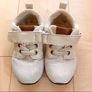 フタフタ(futafuta)のtete a tete アイボリー 靴 16.0cm(スニーカー)