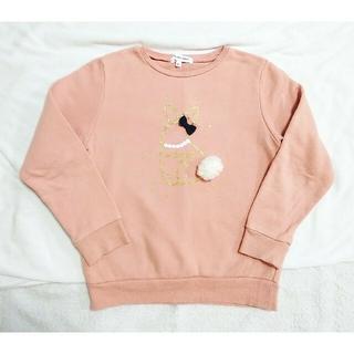 グローバルワーク(GLOBAL WORK)のグローバルワーク 女の子 子供 キッズ  XL トレーナー ピンク(Tシャツ/カットソー)
