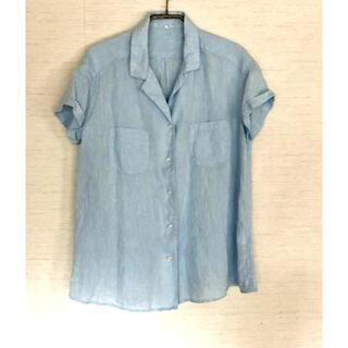 ムジルシリョウヒン(MUJI (無印良品))の無印 開襟リネンシャツ 麻100%(シャツ/ブラウス(半袖/袖なし))
