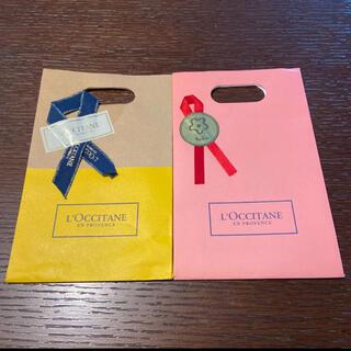 ロクシタン(L'OCCITANE)のロクシタン 紙袋 封筒 2点(ラッピング/包装)