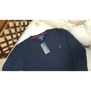 ラルフローレン(Ralph Lauren)の新品☆ラルフローレン ケーブルセーター 紺 170(ニット)
