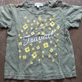 サンカンシオン(3can4on)の90 サンカンシオン 半袖 緑 花(Tシャツ/カットソー)