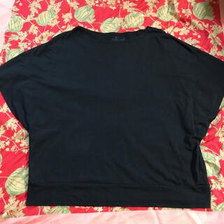 ムジルシリョウヒン(MUJI (無印良品))の無印 トップス 黒 M-L(シャツ/ブラウス(半袖/袖なし))