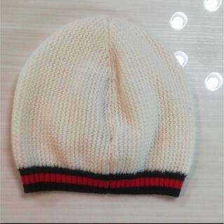 グッチ(Gucci)のGUCCI ベビー ニット帽 シェリーライン(帽子)
