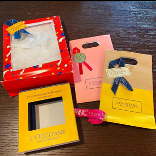 ロクシタン(L'OCCITANE)のロクシタン 紙袋 箱 ラッピング 包装(ラッピング/包装)