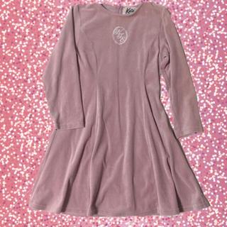 ケイティー(Katie)のKatie dress in velvetワンピ ラベンダーグレー(ひざ丈ワンピース)