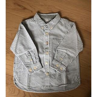 ムジルシリョウヒン(MUJI (無印良品))の無印良品 ベビー ストライプシャツ(ブラウス)