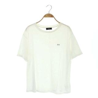 セオリー(theory)のセオリー theory 2.0 ロゴTシャツ カットソー 半袖 S 白 ホワイト(Tシャツ(半袖/袖なし))