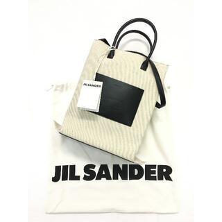 ジルサンダー(Jil Sander)の新品 JIL SANDER ロゴトート バッグ スモール キャンバス レザー(トートバッグ)