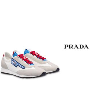 プラダ(PRADA)のPRADA ロゴスニーカー 7.5(スニーカー)