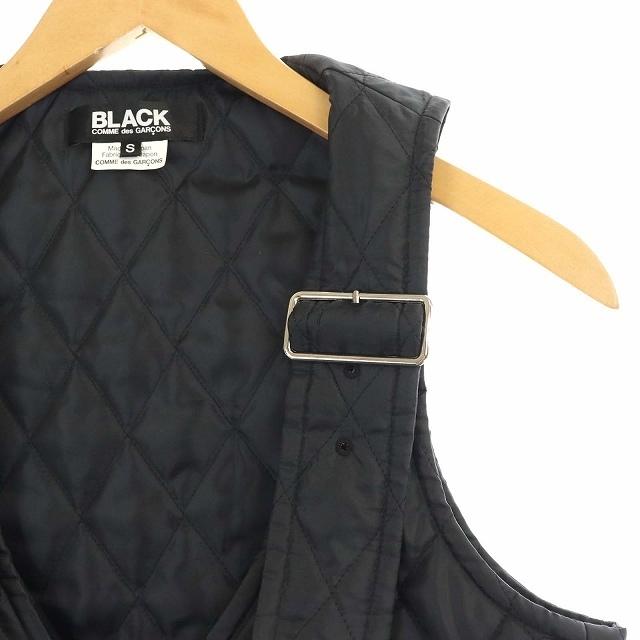 BLACK COMME des GARCONS(ブラックコムデギャルソン)のブラックコムデギャルソン AD2019 キルティングベスト 中綿 S 黒 メンズのトップス(ベスト)の商品写真