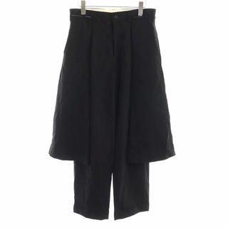 COMME des GARCONS - コムデギャルソン パンツ スカート ドッキング ウールギャバ 変形 S 黒