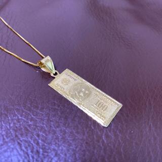 Supreme - Supreme 100 Dollar Bill Gold Pendant