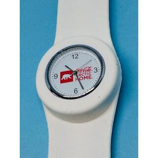 コカコーラ(コカ・コーラ)のJ13)珍しい(*'▽')コカ・コーラ電池交換ホワイト・腕時計コレクションに(腕時計(アナログ))