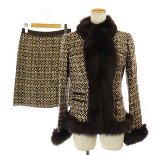 Harrods - ハロッズ Harrods スーツ セットアップ ジャケット スカート 1 茶