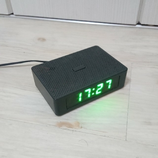 ムジルシリョウヒン(MUJI (無印良品))の中古 MUJI 無印良品 デジタル時計 黒 四角 ブラック(置時計)
