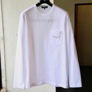コムデギャルソン(COMME des GARCONS)のギャルソンオム 綿天竺 ロンT ポケットロゴ Sサイズ (Tシャツ/カットソー(七分/長袖))