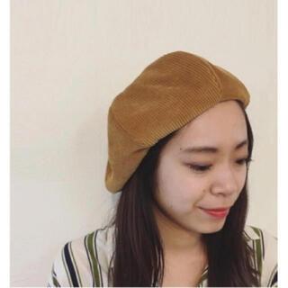トゥデイフル(TODAYFUL)のTODAYFUL コーデゥロイベレー コーデュロイ ベレー帽 シンプル 秋(ハンチング/ベレー帽)