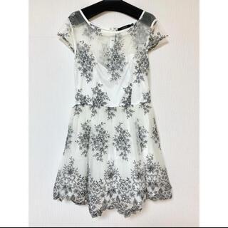 リプシー(Lipsy)のインポートドレス シースルー 刺繍(ミディアムドレス)