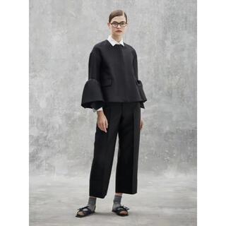 ドゥロワー(Drawer)の【新品未使用】Drawer ウールシルク裾切り替えクロップドパンツ(クロップドパンツ)