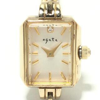 agete - agete(アガット) 腕時計 - レディース 白