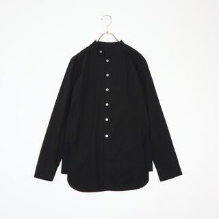 Yohji Yamamoto +NOIR サイドリブ スタンドカラーシャツ