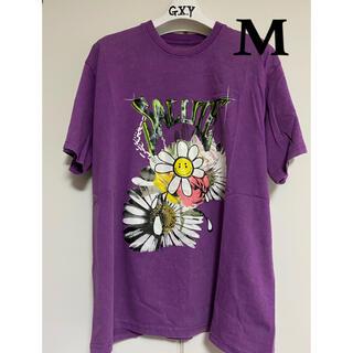 【正規品】サルーテ SALUTE WASHED FLOWER TEE 半袖(M)(Tシャツ/カットソー(半袖/袖なし))