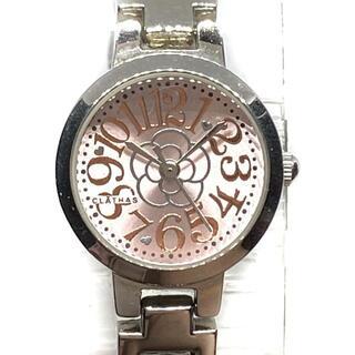 クレイサス(CLATHAS)のクレイサス 腕時計 - レディース ピンク(腕時計)