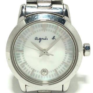 アニエスベー(agnes b.)のアニエスベー 腕時計 - 7N82-0CS0 白(腕時計)