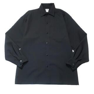 カルトップ(CALTOP)の【USA製】CALTOP ボタンダウン 長袖 ポリシャツ ブラック S(シャツ)
