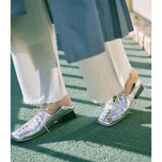 アメリヴィンテージ(Ameri VINTAGE)の☆完売品☆Ameri vintage レースアップシューズ Mサイズ シルバー(ローファー/革靴)