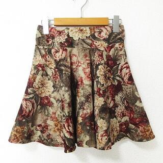 ロジータ(ROJITA)のロジータ ROJITA 美品 スカート ミニ丈 フレア 花柄 S位(ミニスカート)
