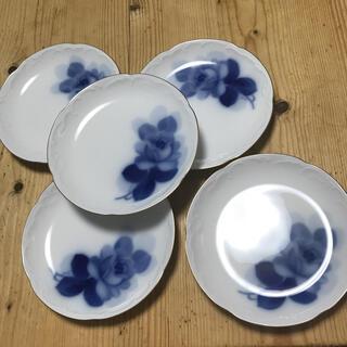 オオクラトウエン(大倉陶園)の大倉陶園 ブルーローズ銘々皿5枚揃え(食器)
