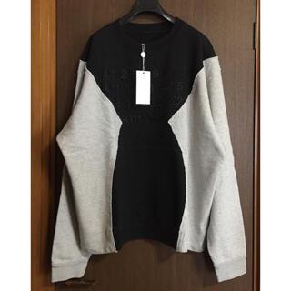 Maison Martin Margiela - 黒52新品 メゾン マルジェラ 再構築 オーバーサイズ スウェット シャツ