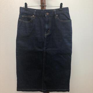 ムジルシリョウヒン(MUJI (無印良品))の無印 デニムタイトスカート/デニムスカート Mサイズ ネイビー(ひざ丈スカート)