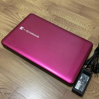 東芝 - ノートパソコン ピンク 可愛い 美品 東芝 HDD 640GB 大容量