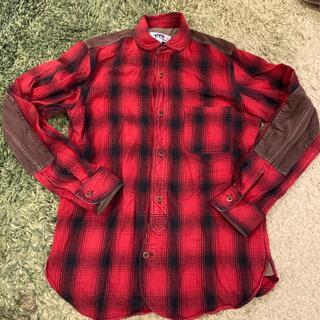 JUNYA WATANABE COMME des GARCONS - コムデギャルソン 赤チェックネルシャツ XS