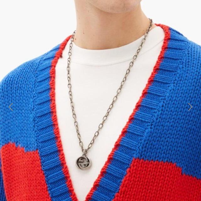Gucci(グッチ)の GUCCI インターロッキング  スパイラル ネックレス ラージサイズ メンズのアクセサリー(ネックレス)の商品写真